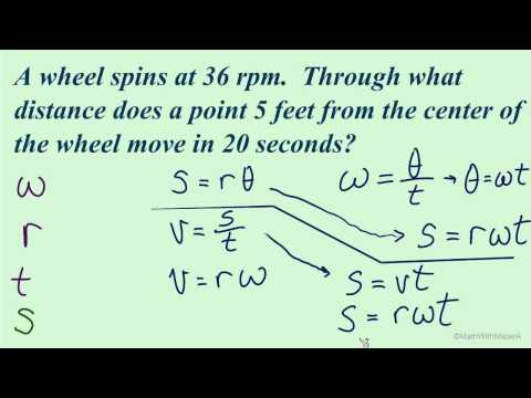 Arc Length and Angular Speed - Part 7 (Rotational Velocity Example)