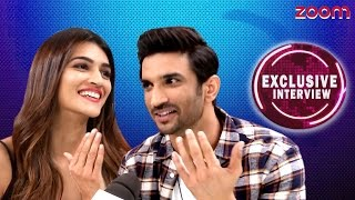 Sushant Singh Rajput & Kriti Sanon Exclusive Interview - zoom