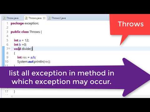 73. Throws and finally keyword in java