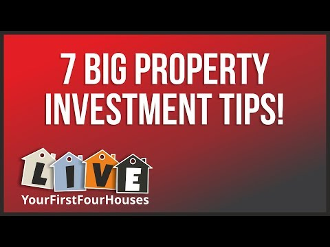 My 7 BIGGEST Property Investment Tips... MY FIRST LIVE BROADCAST! :-)