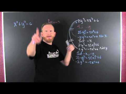 Determine Symmetry Algebraically