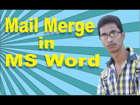 Mail Merge in MS Word Step By Step in Hindi|ms word mail merge Hindi