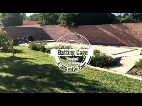 Building A Batting Cage Timelapse