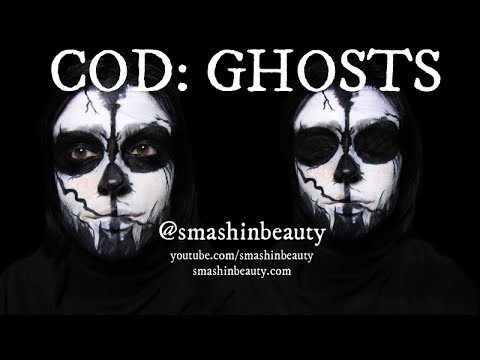 Call of Duty Ghosts Mask Halloween Makeup Tutorial 2017 (Darth Nihilus Makeup)  | SMASHINBEAUTY