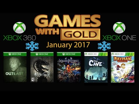 Games With Gold Free Games For January 2017