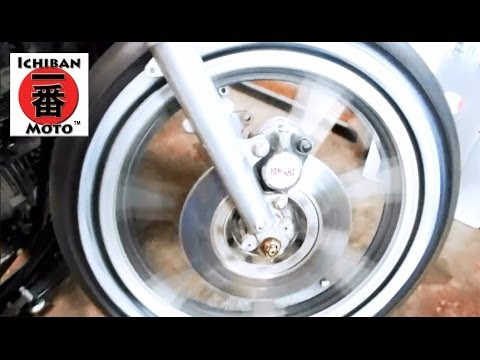 Ichiban Cafe Racer Part 24: How to install Whitewall tire upgrade kit on motorcycle choppers bobbers