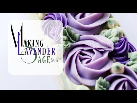 Making Lavender Sage Soap | Gifted Hands Artisan Soap