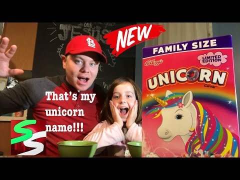 Unicorn 🦄 Cereal Review and Our Unicorn 🦄 Name Reveal!!