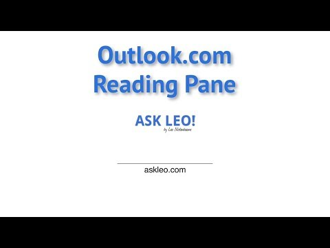 The Outlook.com Reading Pane