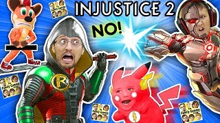 SUPER HERO KIDS vs. DAD Battle! Pikachu is Savage! (FGTEEV plays INJUSTICE 2 Batman vs. Superman)