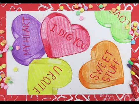 Candy Heart Drawings