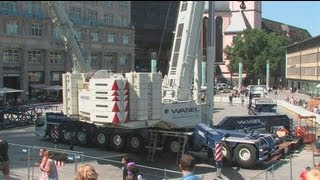 Kölner Dom - Demontage des 2. Hängegerüst - Cologne Cathedral Scaffolding - Part 1 crane montage
