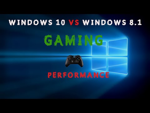 Windows 10  vs Windows 8.1 Gaming Performance Side by Side ( Minecraft )