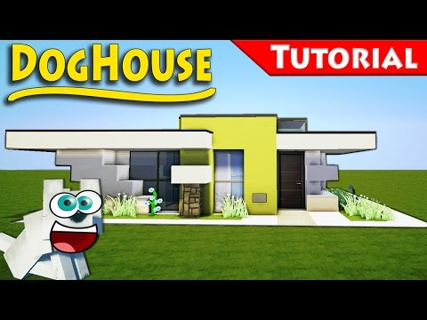 Minecraft: How to Build a Modern DogHouse - Tutorial