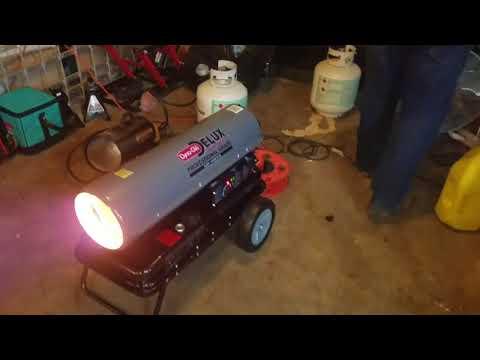 Dyna glo Delux diesel / kerosene 135000 btu heater unboxing