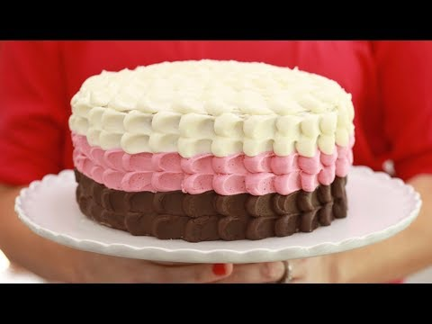 3-Layer Neapolitan Cake (Chocolate, Vanilla & Strawberry): Bigger Bolder Baking's 4th Birthday!!!