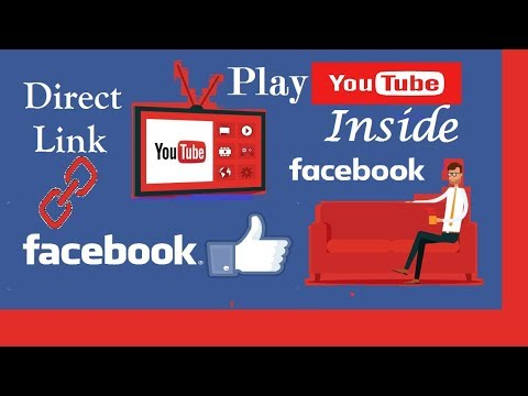 How to Play YouTube Videos in Facebook by direct link EMBED No need to upload Video on fb separately