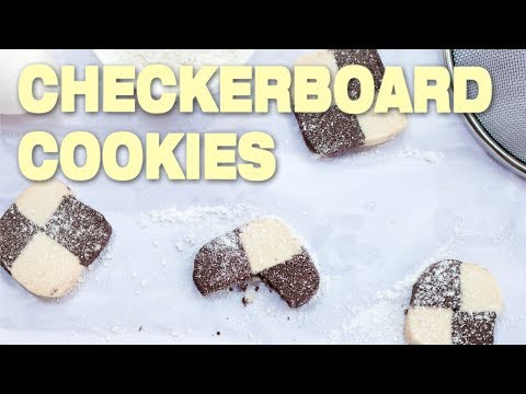 Easy Checkerboard Cookies - German Recipe step by step