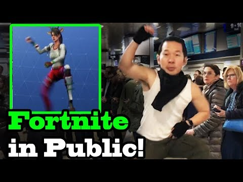FORTNITE DANCES IN PUBLIC!  In Real Life Challenge! (Best Mates, Take The L)