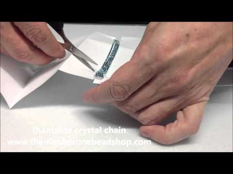 How to make your own diamante crystal bracelet