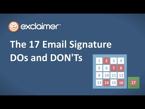 The 17 Email Signature DOs and DON'Ts