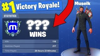 Muselks Stats *REVEALED* In Fortnite Battle Royale!
