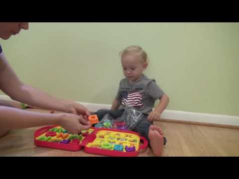 Unboxing Sesame Street Elmo's On the Go Letters by 2 year old