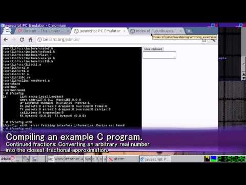 Featuring: Javascript PC emulator by Fabrice Bellard