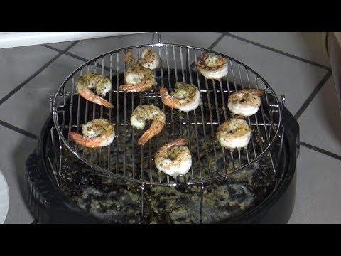 Grilled Frozen Shrimp, NuWave Oven Recipe (Less Than 10 Minutes)