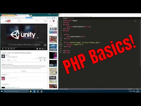 Building a simple web application with php and HTML forms (Lecture 3+4)