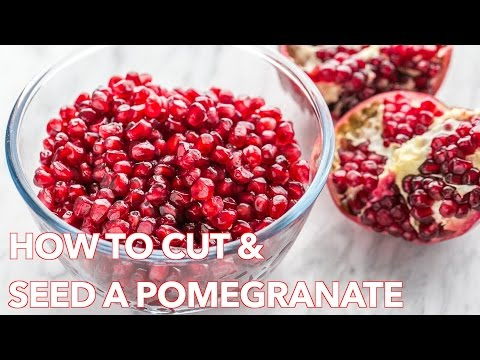 Quick Tip: How To Cut & Seed a Pomegranate - Natasha's Kitchen