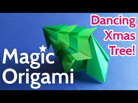 Dance of the Origami Christmas Tree 🎄 Stop Motion Animation ❤
