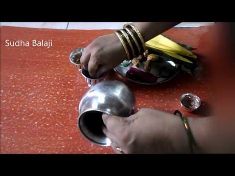 Varalakshmi Vratham Kalasam decoration   Varalakshmi Pooja Kalash   Pooja vidhanam for Nombu   Tamil