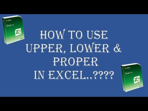How to change text case in excel | Hindi