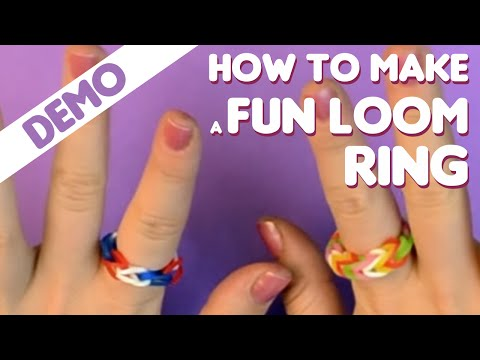 Fun Loom - How to make a ring video