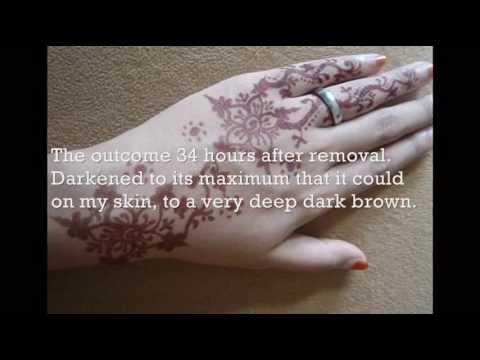 How to darken Henna/Mehndi with natural body heat