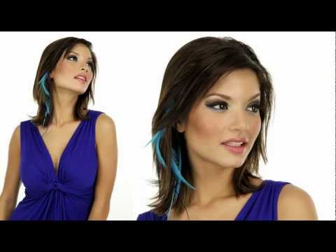 Clip In Feather Hair Extensions by Mia   Instant Boho Hairstyle