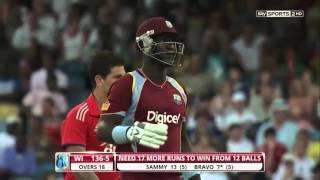 Darren Sammy 30 off 9 Balls Vs England 2nd T20I 2014 HD