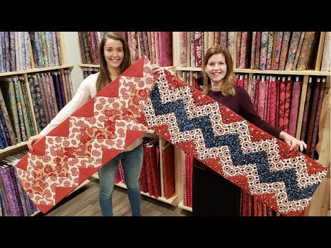 Like Mother Like Daughter... Chevron Table Runner! | Kansas Troubles Quilt Giveaway :)