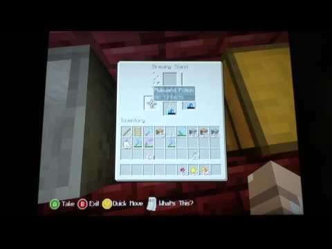 How to make potion of healing: Minecraft Xbox 360