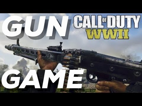 Call of Duty WW2 On Xbox One X! GUN GAME Highlights! Multiplayer Gameplay