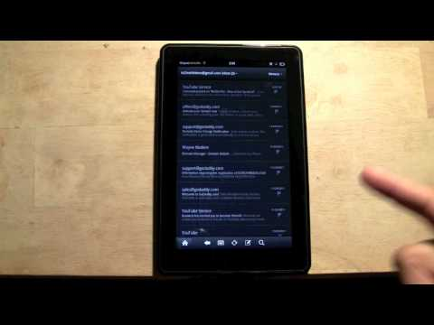 Kindle Fire: How to Get Emails Faster | H2TechVideos