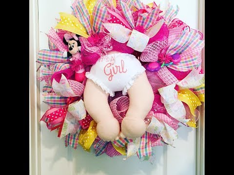 How to make a Baby Wreath with poof curl method