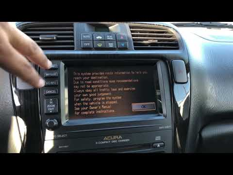 How to retrieve the navigation serial number from Acura MDX so you can get unlock code