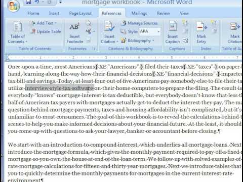 Book Indexing - How To Make A Book Index In Microsoft Word