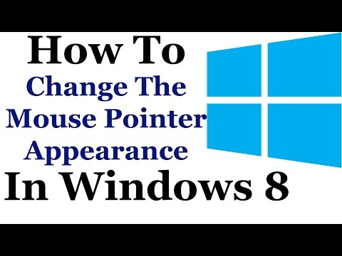 How To Change The Mouse Pointer Settings In Windows 8