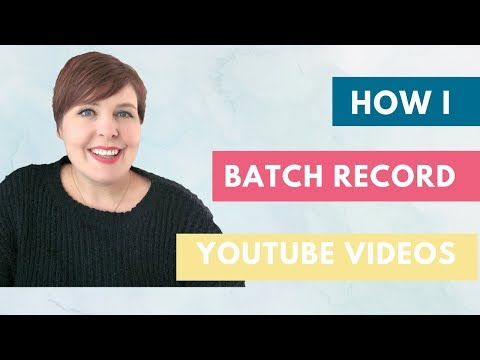 How I batch record YouTube videos