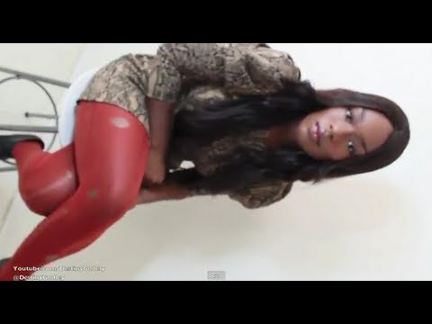 (9) Get Ready With ME! Snake Skin Dress ORANGE Distressed Tights + LADY FRANKS