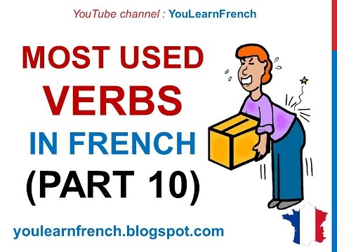 French Lesson 240 - 100 Most common Must know verbs in French PART 10 Most used words expressions