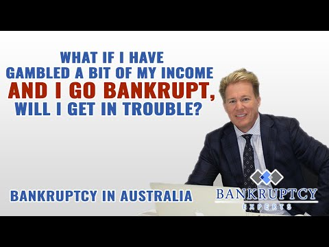 What If I have gambled some of my money prior to bankruptcy?